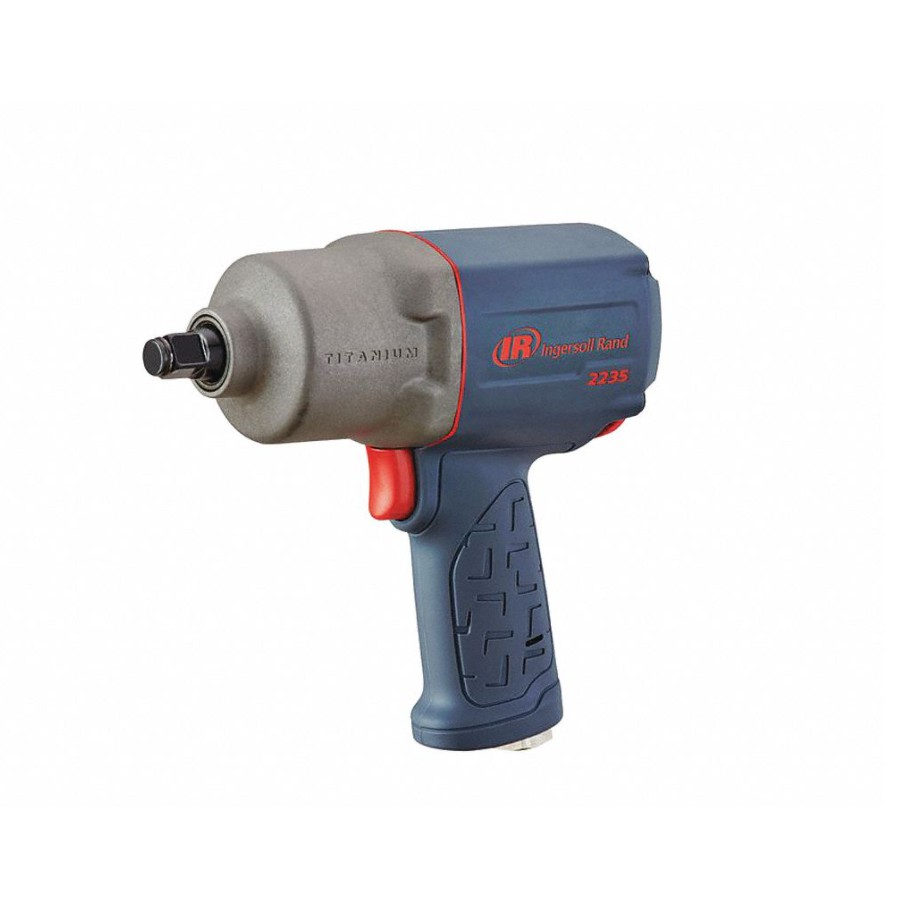 INGERSOLL-RAND 2235TiMAX Air Powered 1/2 in Square, Impact Wrench, 90 psi, 900 ft-lb Fastening Torque