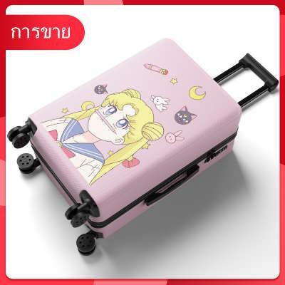 กระเป๋าเดินทางสุทธิสีแดงหญิงรถเข็น 20 นิ้ว 24 กระเป๋าน่ารักนักเรียนเกาหลีซองหนังขนาดเล็กรหัสผ่าน