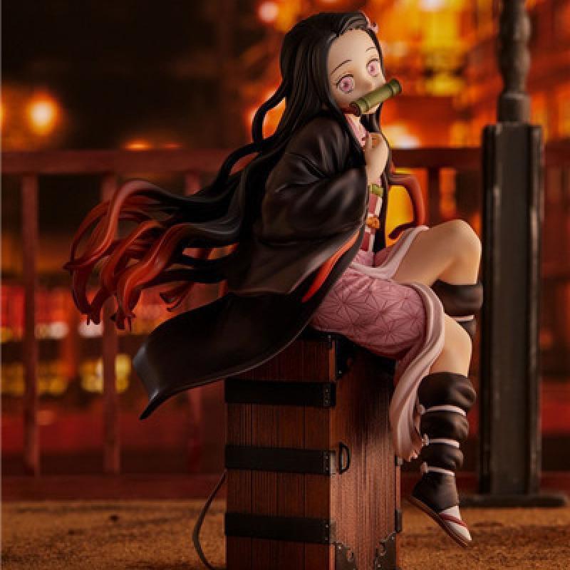 อะนิเมะ รูปอะนิเมะ Devil's Blade Anime Figure Tanjirou Nezuko Demon Slayer Pvc Backpack Action Figure Collectible Model