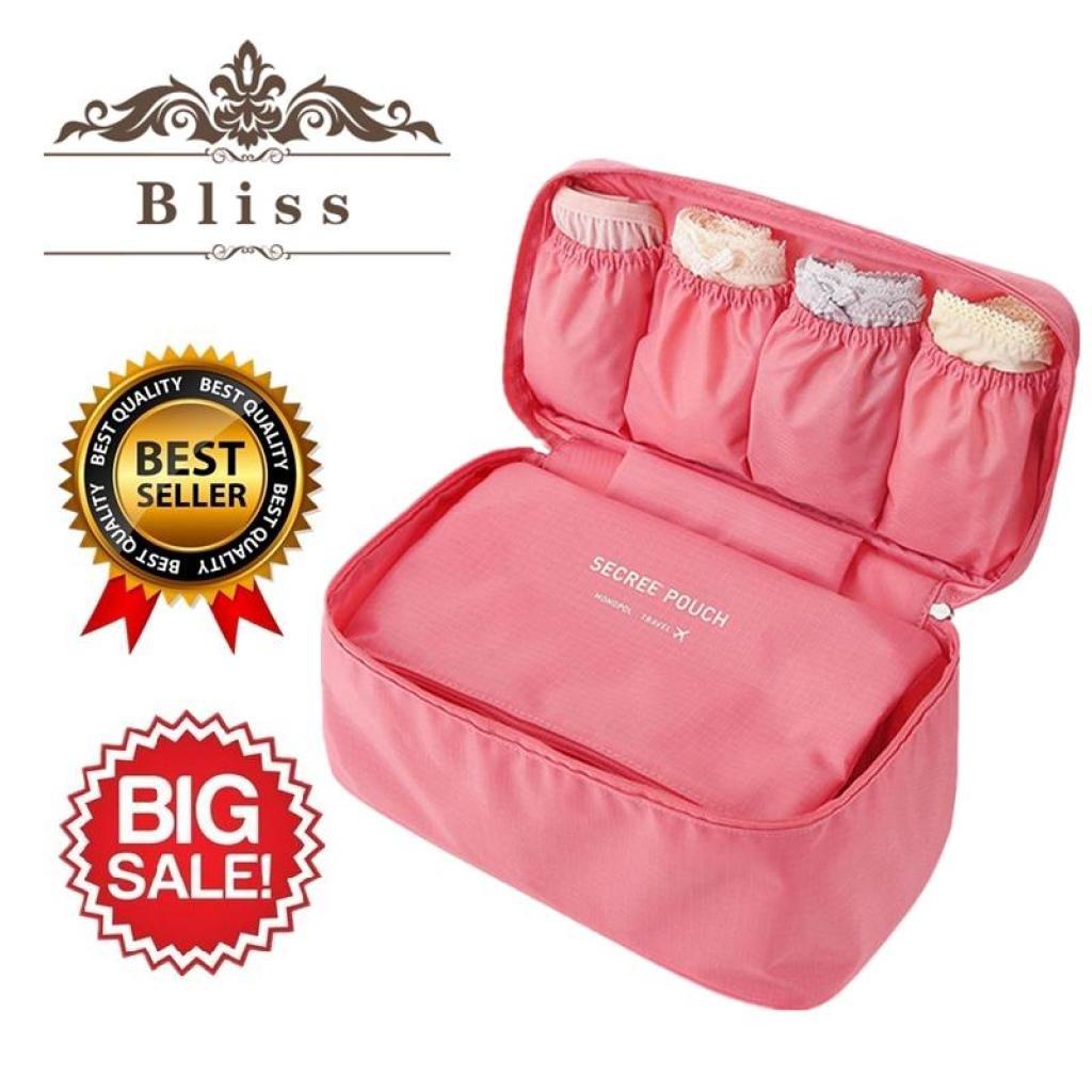 ท่องเที่ยว Bliss Underware Poch กระเป๋าใส่ชุดชั้นใน กระเป๋าเดินทาง กระเป๋าหิ้วใบเล็ก นื้อผ้า Water Proof กันน้ำ กระเป๋าใ