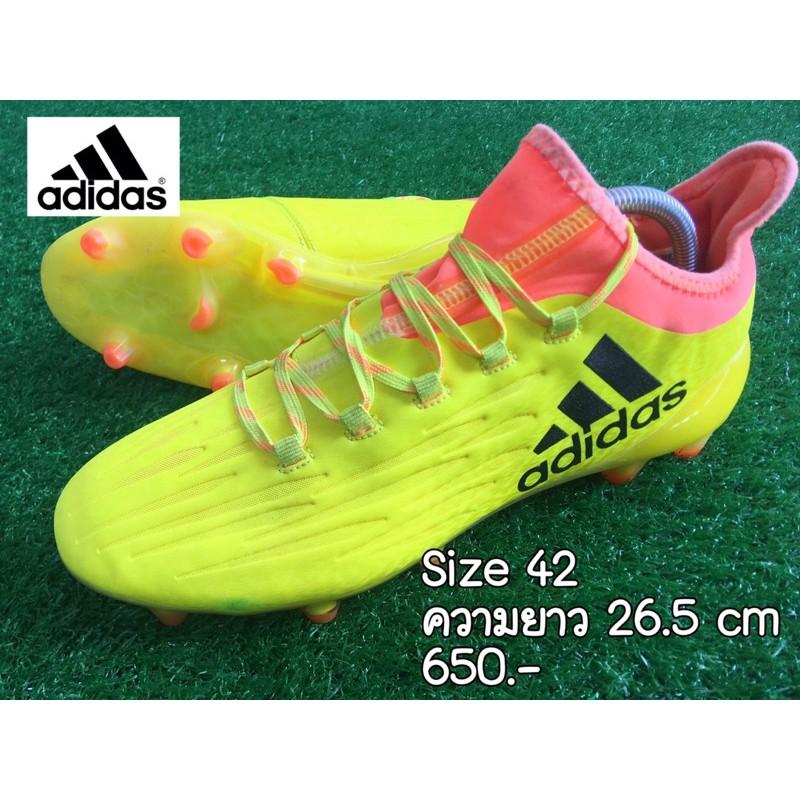 รองเท้าสตั๊ด adidas สีเหลือง มือสอง (size42)