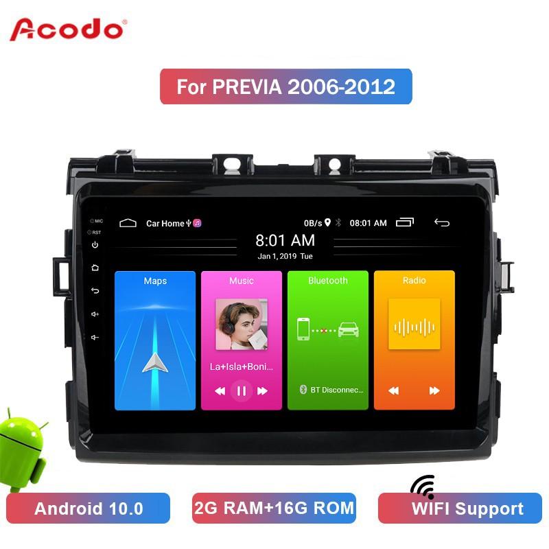 เครื่องเล่นมัลติมีเดีย Ao 2 + 16 G Android 10 . 0 สําหรับรถยนต์ Toyota Prius 2016 + Navigation Gps 2 Din