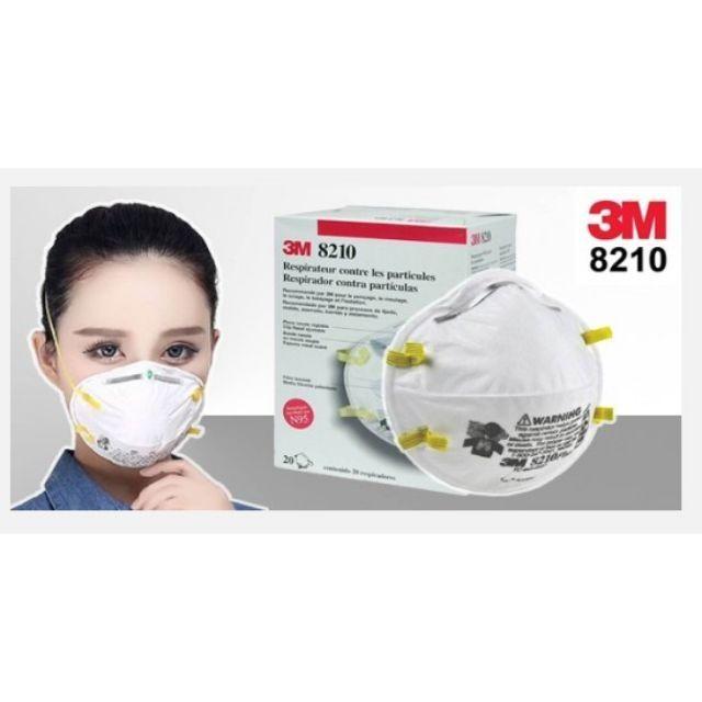 📌พร้อมส่ง หน้ากากป้องกันฝุ่น 3M 8210 N95 Particulate Respirator PM2.5