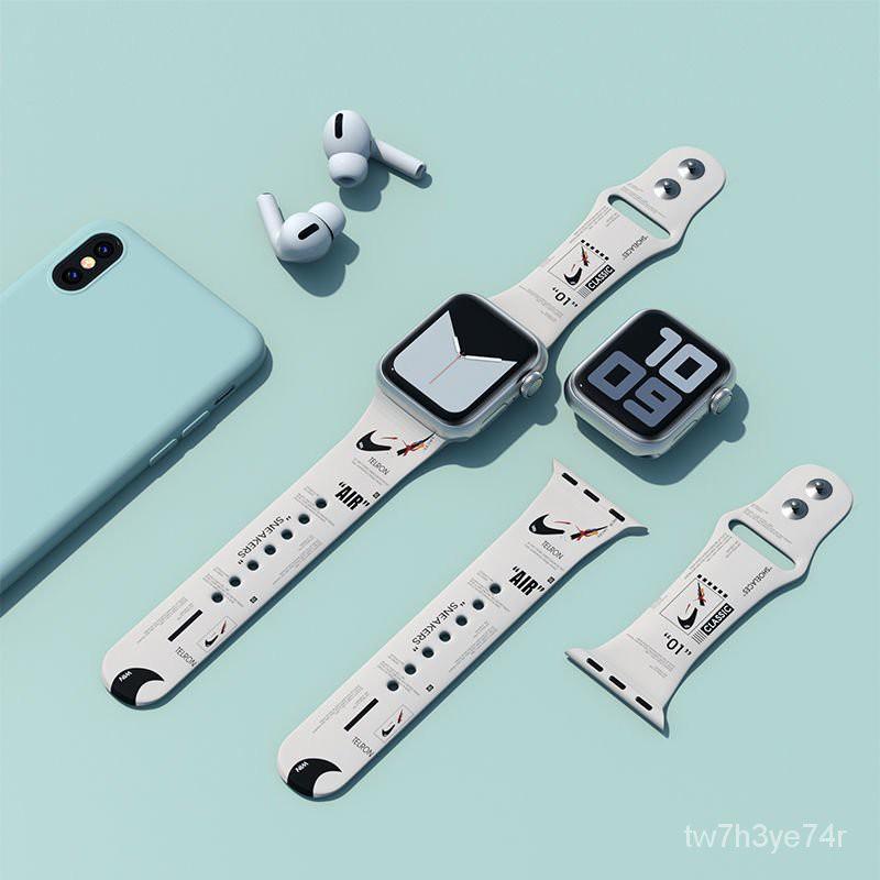 สาย applewatch สายแอปเปิ้ลวอช สายนาฬิกาซิลิโคน สายนาฬิกา watch สาย applewatch แท้ iWatch6สายนาฬิกาแอปเปิ้ลสายแบรนด์น้ำสา