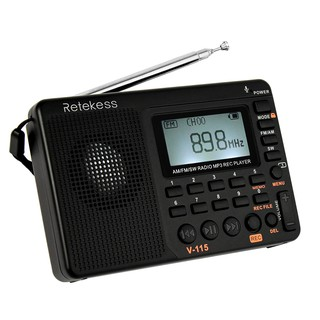 Review Retekess V-115 FM/AM/SW Radio Multiband Radio Receiver REC Recorder Bass Sound MP3 Player Speakers with Sleep Timer