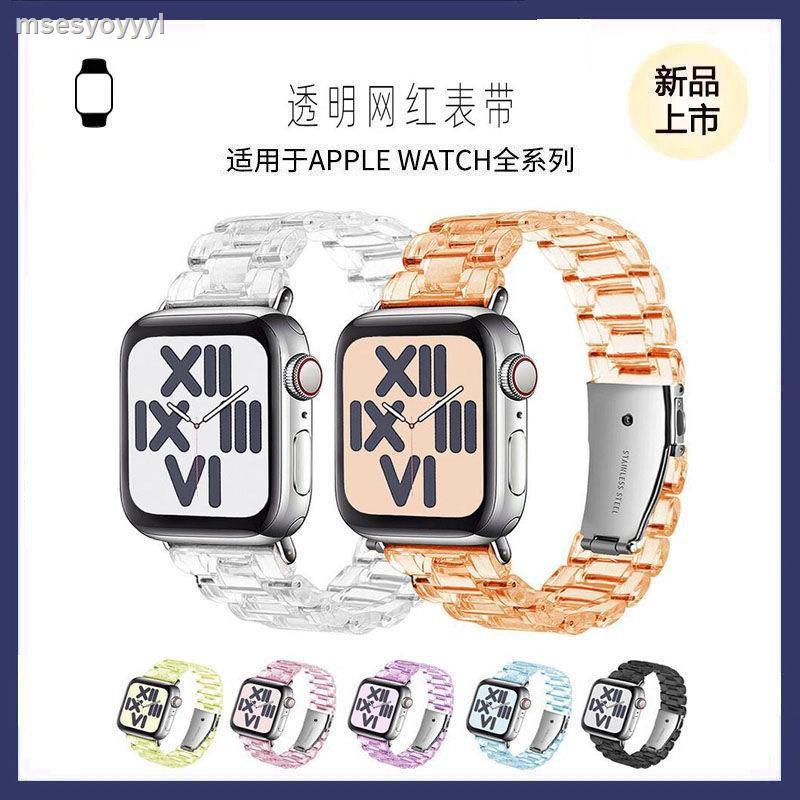 【อุปกรณ์นาฬิกา iwatch】◐ใช้ได้กับ Apple Watch ที่มีสายนาฬิกา iwatch applewatch6 / 5 SE เรซิ่นใสสาย