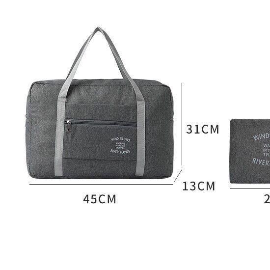 กระเป๋ากีฬา◎✼กระเป๋าเดินทางธุรกิจแบบพับได้สำหรับบุรุษและสตรี สามารถตั้งได้กับกระเป๋าเดินทางแบบล้อลาก, กระเป๋าเดินทาง, กร