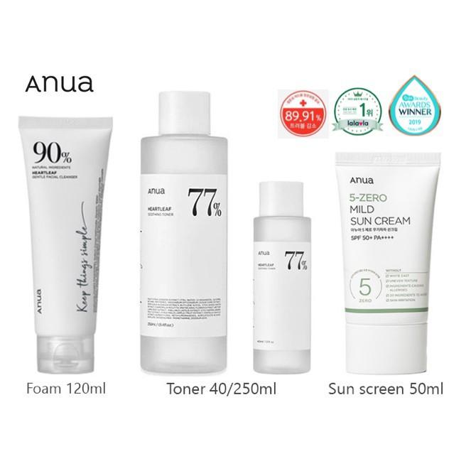 ❉▫พร้อมส่ง Anua Heartleaf 77% Soothing Toner 250ml./40ml.