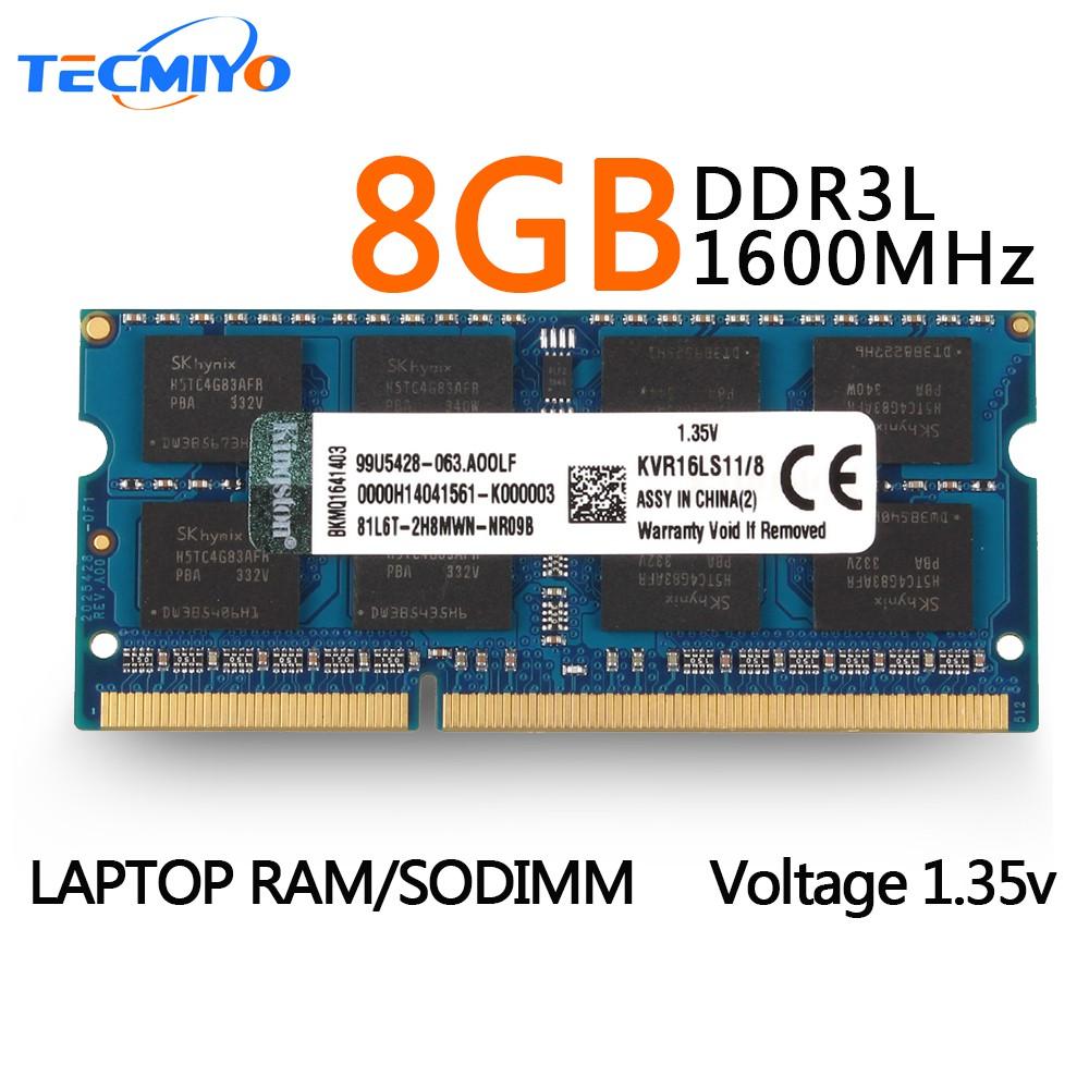 16GB 2x 8GB DDR3L 1600 MHz PC3L-12800 Sodimm Laptop RAM Memory Low Voltage