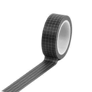 Black Grid Planner Journal Scrapbook Decorative Washi Tape