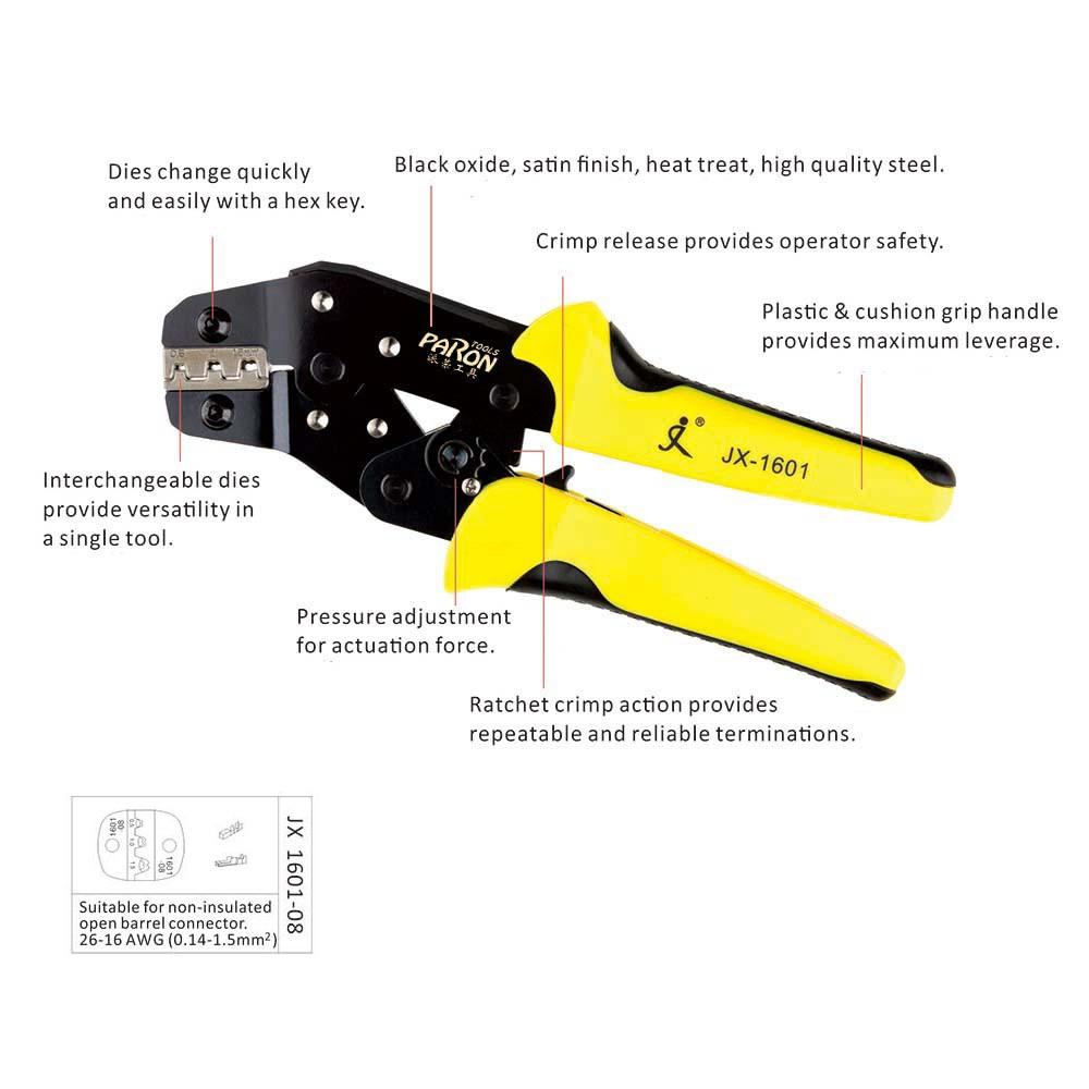 TU-230PA Locking Ratchet Crimping Press Pliers Crimper Clamps Tools | Shopee Thailand