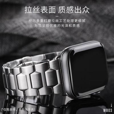 สายนาฬิกา HOCO Watch สายนาฬิกา applewatch4สายนาฬิกาผู้ชายอินเทรนด์สายสแตนเลสสตีลโลหะ Apple Watch series5รุ่น Apple Watch