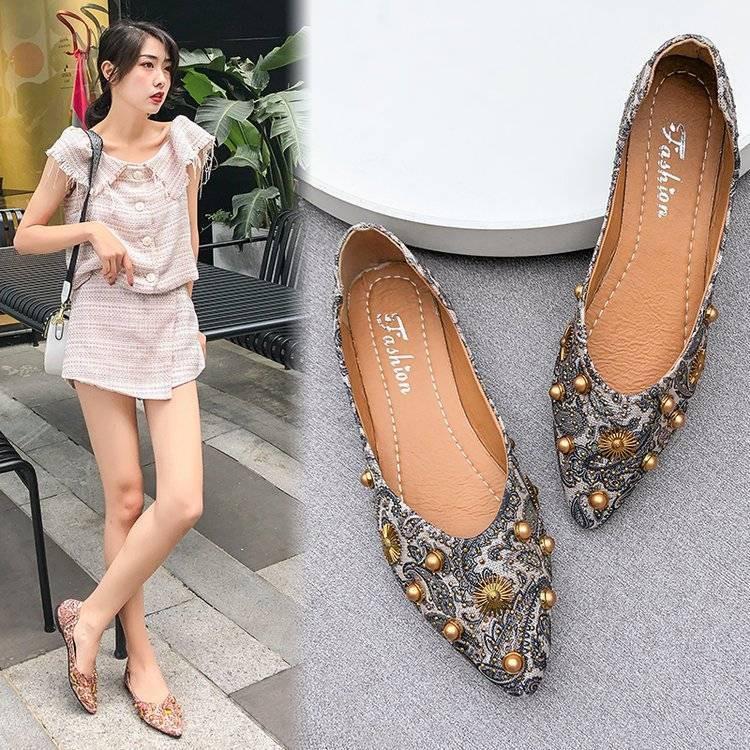 รองเท้าหัวแหลม รองเท้าแฟชั่น💕รองเท้าคัชชูหัวแหลม รองเท้าเปิดส้นใหม่ รองเท้าแฟชั่นเปิดส้น รองเท้าผู้หญิงเปิดส้น