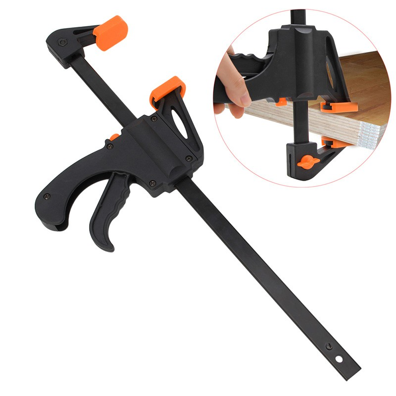 Wood-Working Bar Clamp Quick Ratchet Release Speed Squeeze Hand Tools
