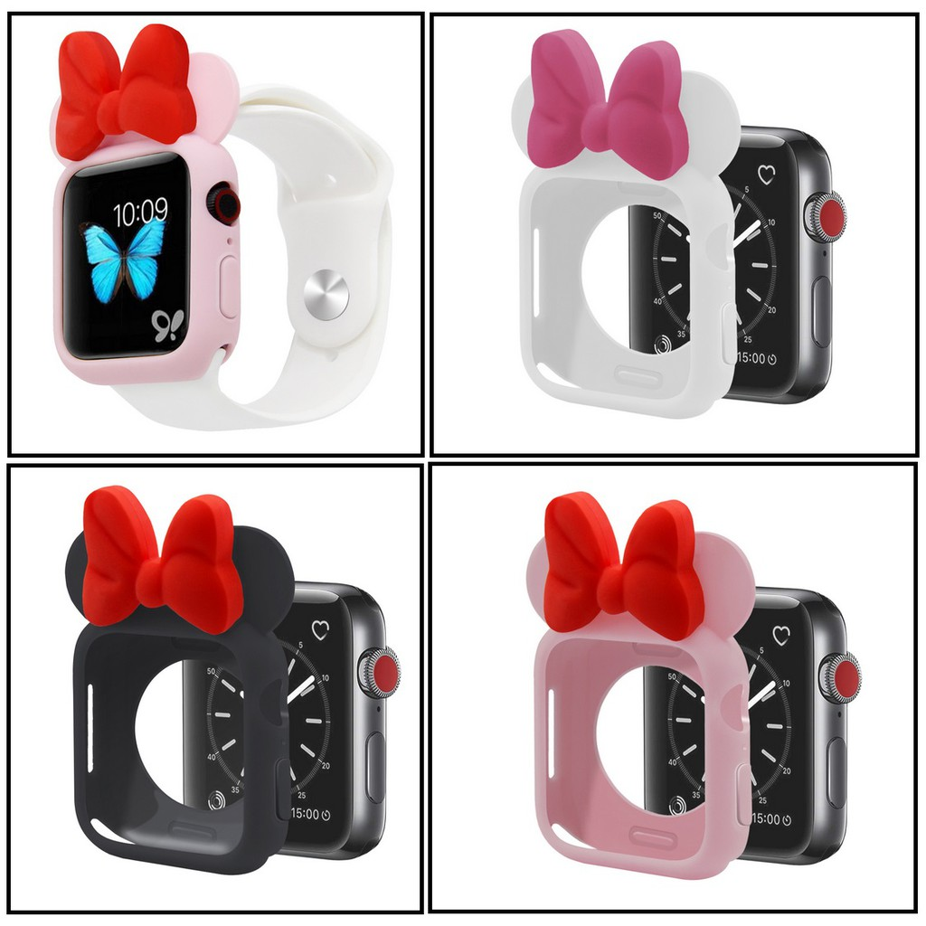 เคส Apple Watch Candy Soft Silicone Case Apple Watch 6 SE 5 4 3 2 1 40mm 44mm เคส AppleWatch Cover Protection Shell for iWatch Bumper