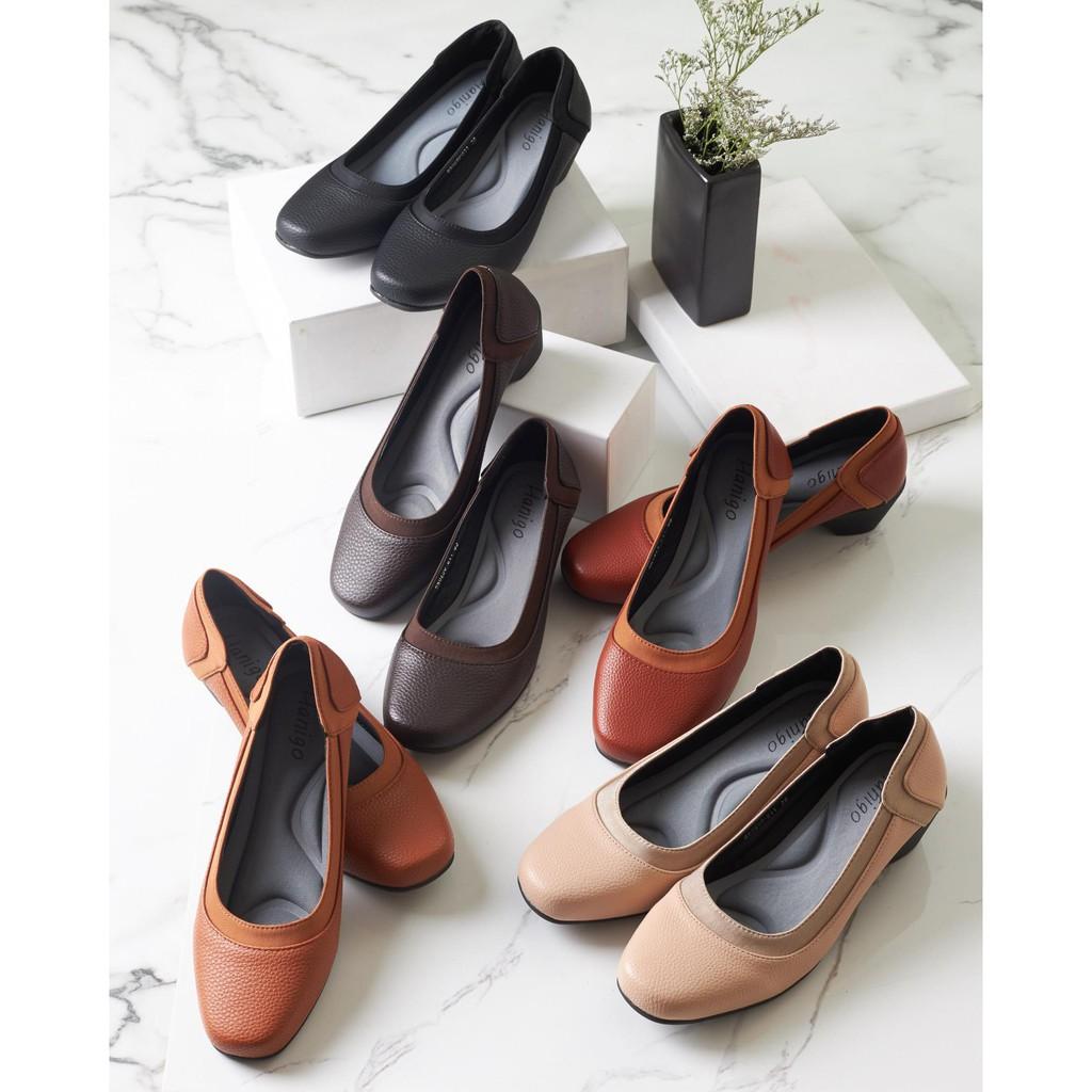 รองเท้าส้นสูงแฟชั่น⌵รองเท้าส้นสูงหัวเข็มขัด⌵ h0290 รองเท้าคัชชูสุขภาพส้นสูง ไซส์35-44