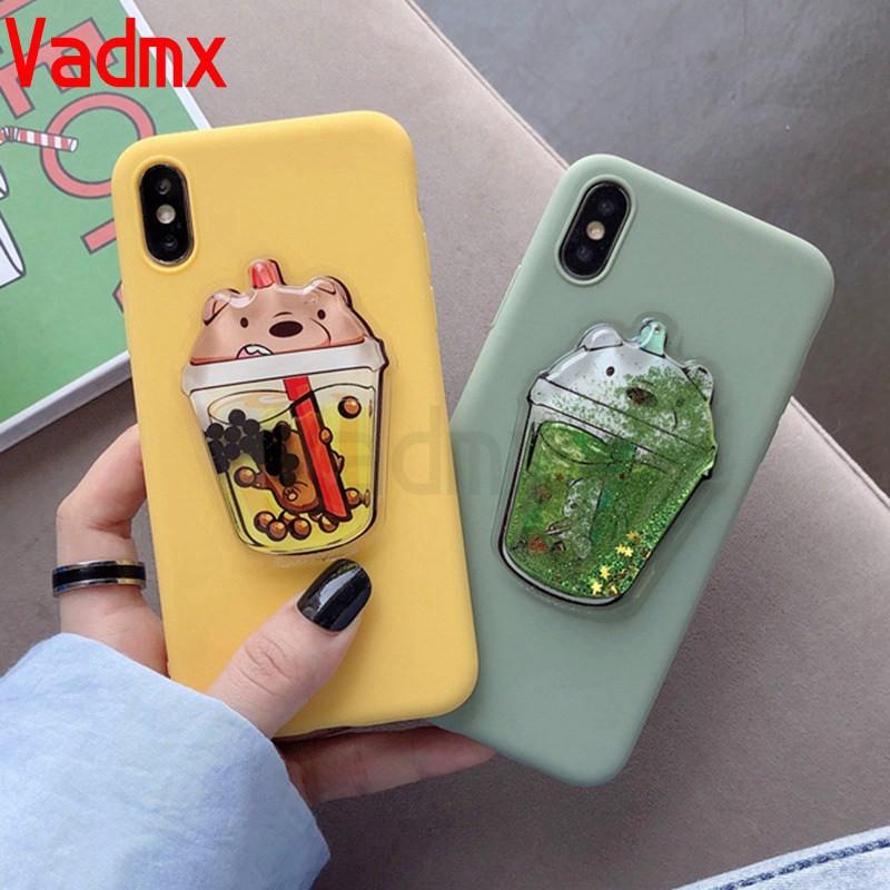 HOT¥¥✎♂☫Samsung Galaxy A9 A8 A7 A6 2018 Pro A5 2017 J7  2016 2015 soft case Cute 3D bear Glitter sandbag phone cover