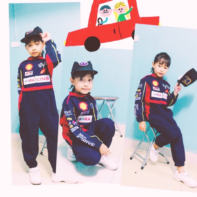 นักแข่งรถ Sale ชุดรถแข่ง  ชุดอาชีพเด็ก(((สินค้าพร้อมส่ง)))ใช้โค๊ดส่งฟรีได้เลย