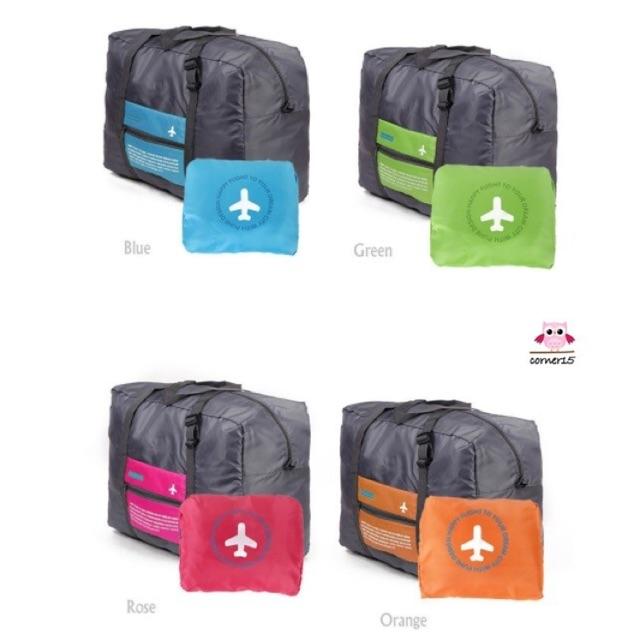 ✅ พับเก็บได้ (5 สี) กระเป๋าเดินทาง พกพา มีช่องสอดกระเป๋าล้อลาก