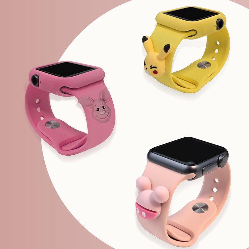 สายนาฬิกาข้อมือซิลิโคนลายการ์ตูนสําหรับ Applewatch Applewatch 5/3/4/40/44 4238
