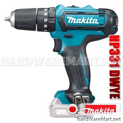 สว่านกระแทกไร้สาย 12v 13mm. MAKITA HP331dwye cordless hammer