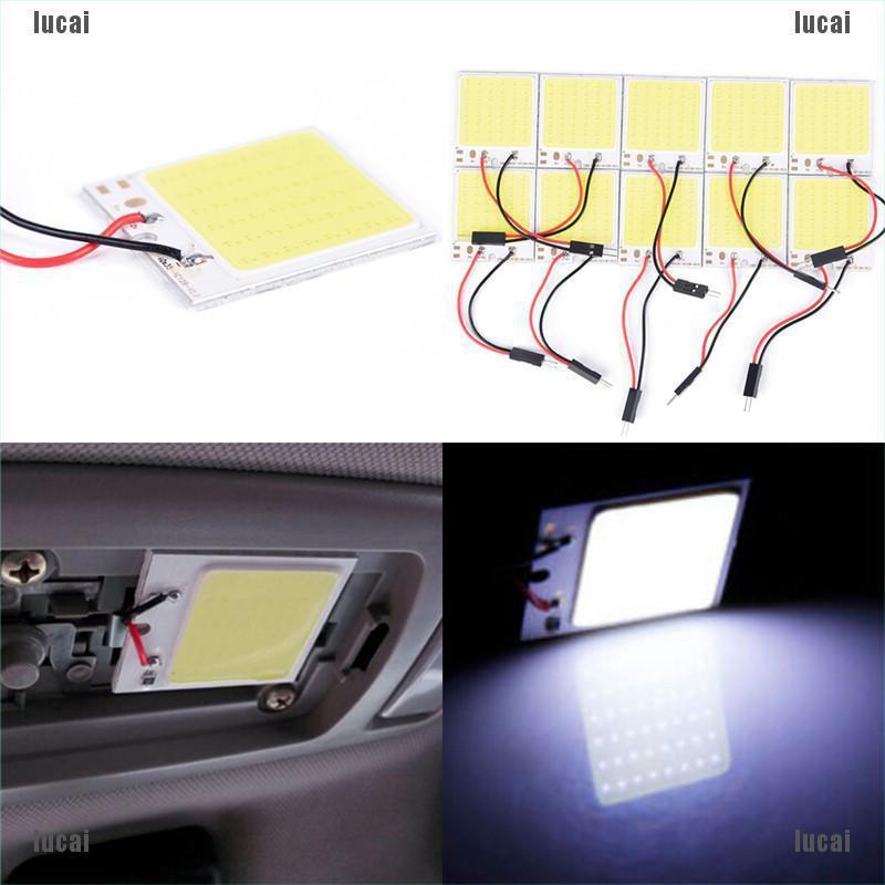 ( Lucaix ) 48 Smd Cob Led T 10 4 W 12 V แผงหลอดไฟภายในรถยนต์ + อะไหล่