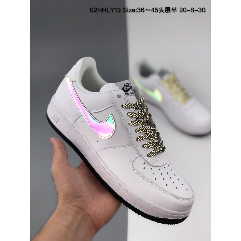 Nike Nike Air Force 1 '07 MID low-top 3M สะท้อนแสงกองทัพอากาศต่ำท้องฟ้าเต็มไปด้วยดวงดาวและท้องฟ้า Yijun