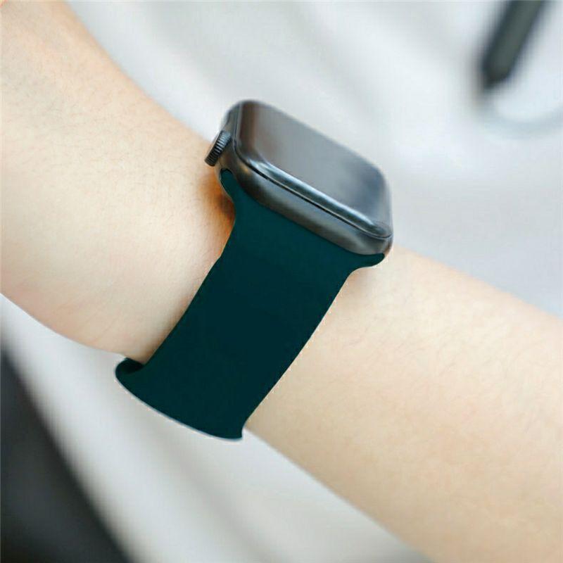 สายนาฬิกา# 🌈 สายซิลิโคนสำรองเปลี่ยนสำหรับ สำหรับ AppleWatch Series 1/2/3/4/5/6 สาย Applewatch iWatch สาย 38mm 40mm 42mm