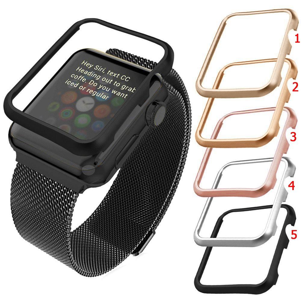 Case for Apple Watch 40mm 44mm 38mm 42mm กรณีอลูมิเนียมไม่มีฝาปิดหน้าจอ