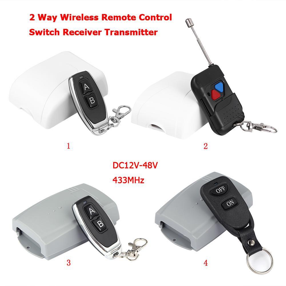 433MHz DC12V-48V 2 Way Wireless Remote Control Switch