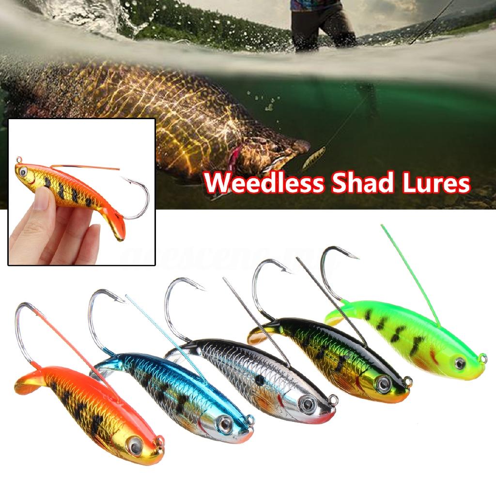 Weedless Shad Lures Pike Perch Zander Bass Pollock Sea Fishing Tackle 8.5cm
