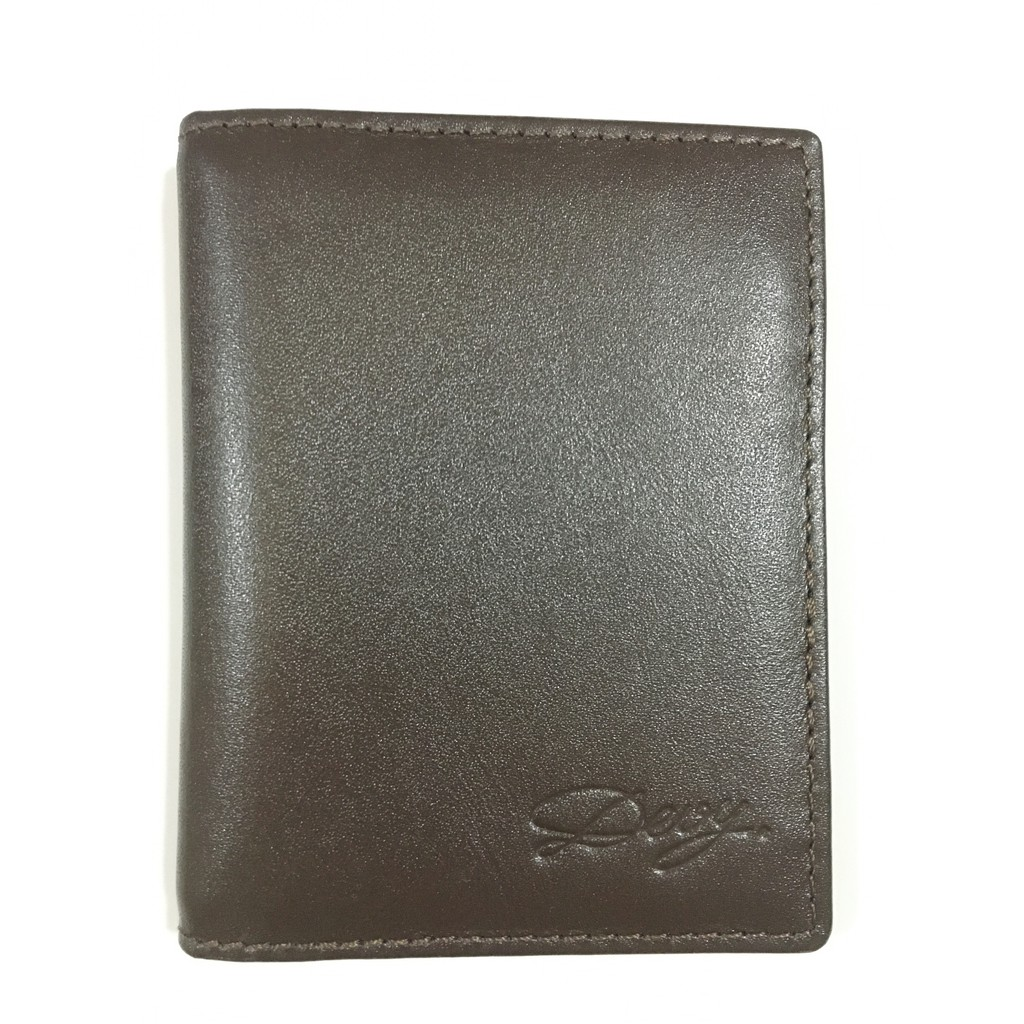 DEVY กระเป๋าใส่บัตรเครดิต กระเป๋าใส่นามบัตร กระเป๋าสตางค์ผู้ชาย สีน้ำตาลเข้ม ช่องใส่การ์ด 8 ช่อง, ช่องเอนกประสงค์ 2 ช่อง