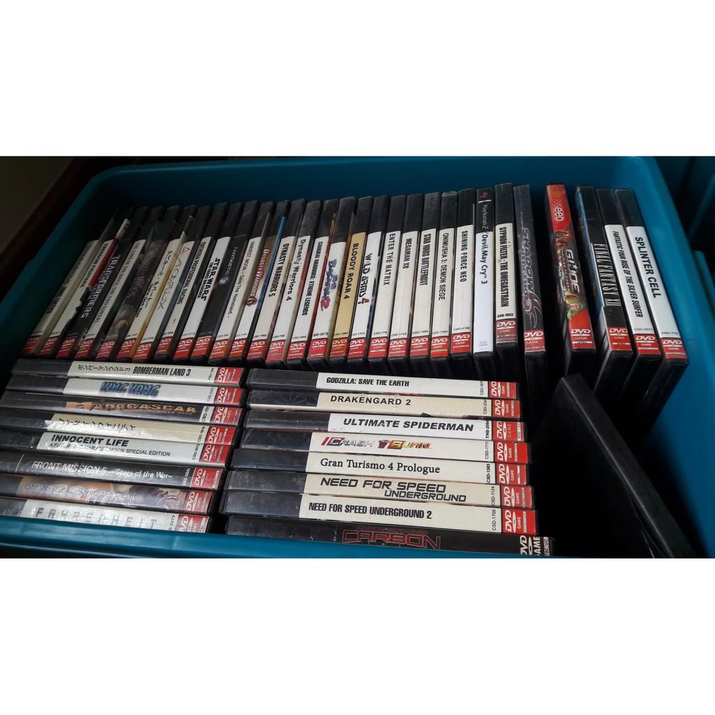 แผ่นเกมส์ PS2 ขายเหมาๆ แผ่นสกรีน ปั๊ม สีทอง  ราคาถูกๆๆ (เลือกเกมส์ได้)