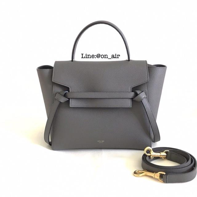 9db27e0f5f New celine belt bag size micro สีเทาเข้ม