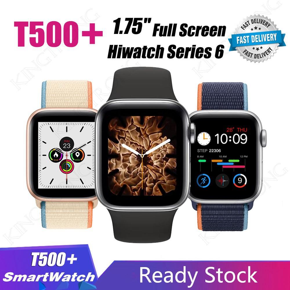 เคส applewatch T500 + Smartwatch 1 . 75 ' ' นาฬิกาข้อมือบลูทูธหน้าจอสัมผัส Series 6 Hiwatch Iwatch 6