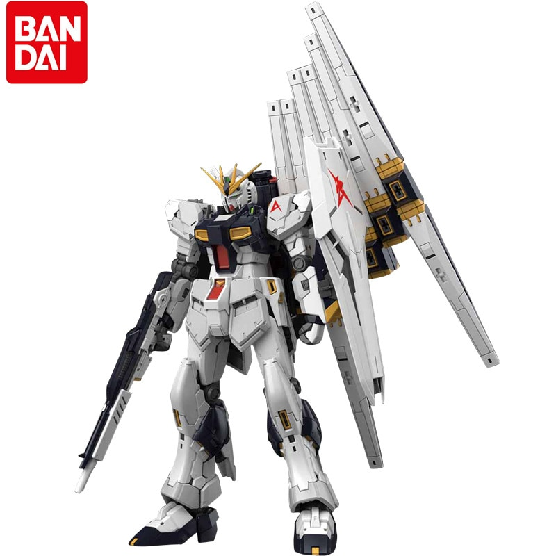 Bandai Gundam Assembly RG 1/144 RX93 Nu Amuro·Ray Garage Kit Gundam Joint Action Collection Figure Toy Gift Child