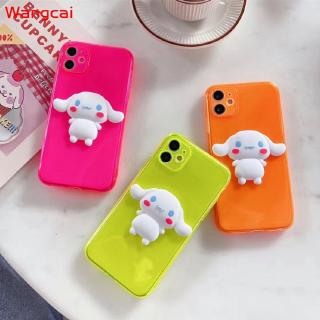 OPPO Reno 3 Pro 2Z 2f 3 F15 R17 R15 Phone Case Solid Color Fluorescence Florescent Cinnamoroll Cute Cartoon Candy Simple Transparent Clear Soft TPU Case Cover