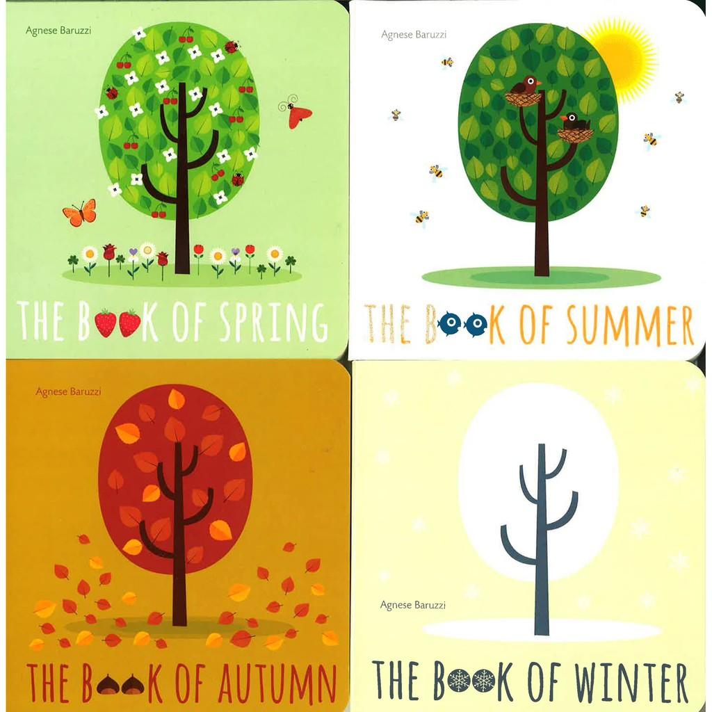 Books of Seasons (4 Books) Board book หนังสือเด็ก บอร์ดบุ๊ค ภาษาอังกฤษ เล่มเล็ก