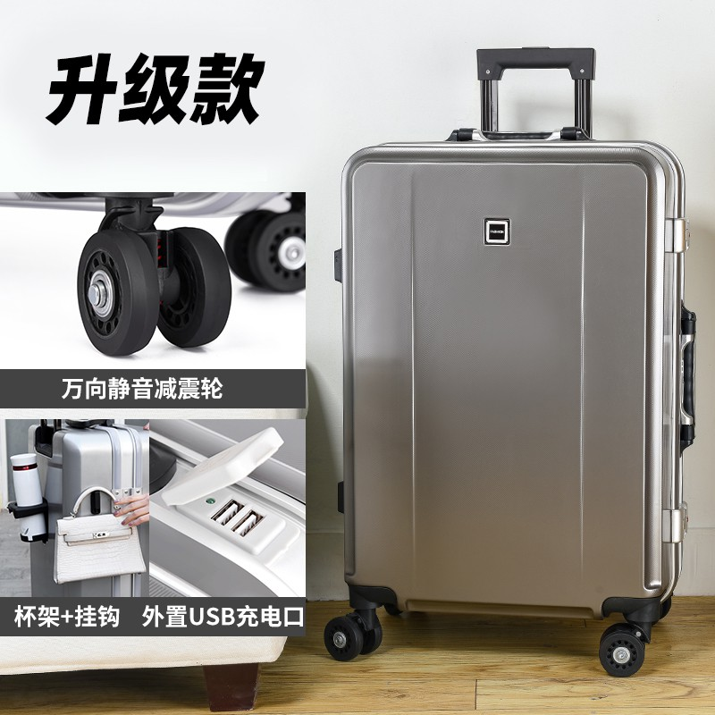 ขนาดเล็ก20นิ้วบุรุษและสตรีสไตล์ล้อรถเข็นกระเป๋าเดินทาง24นิ้วกรอบอลูมิเนียมกระเป๋าเดินทางรหัสผ่าน Pi Xiang Zi1