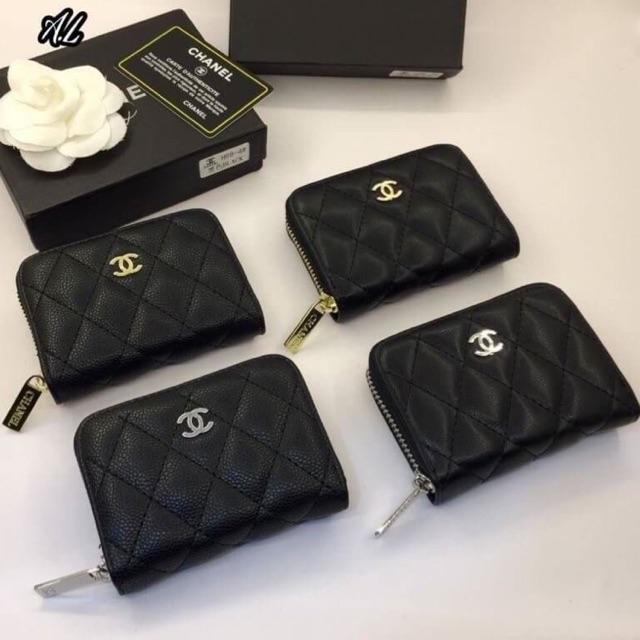 กระเป๋าสตางค์ Chanel การ์ด พร้อมถุงผ้า กล่องแบรนด์