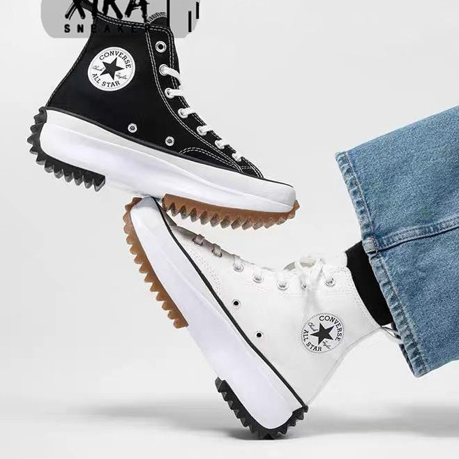 Converse Run Star Hikeรองเท้าผ้าใบผ้าใบส้นสูงผู้หญิง