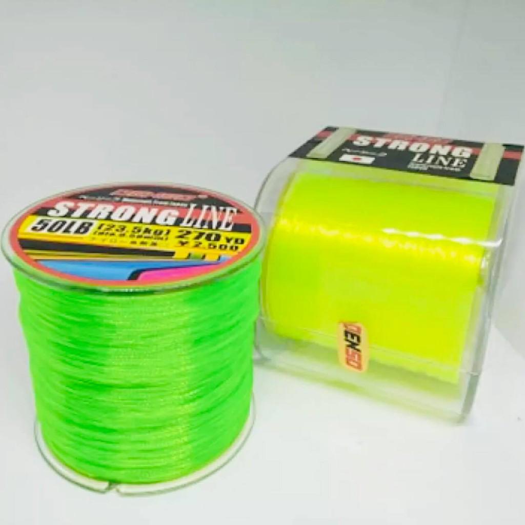 """เอ็นตกปลา Denso """" STRONG LINE """" สีเหลืองมะนาว & สีเขียวตอง"""