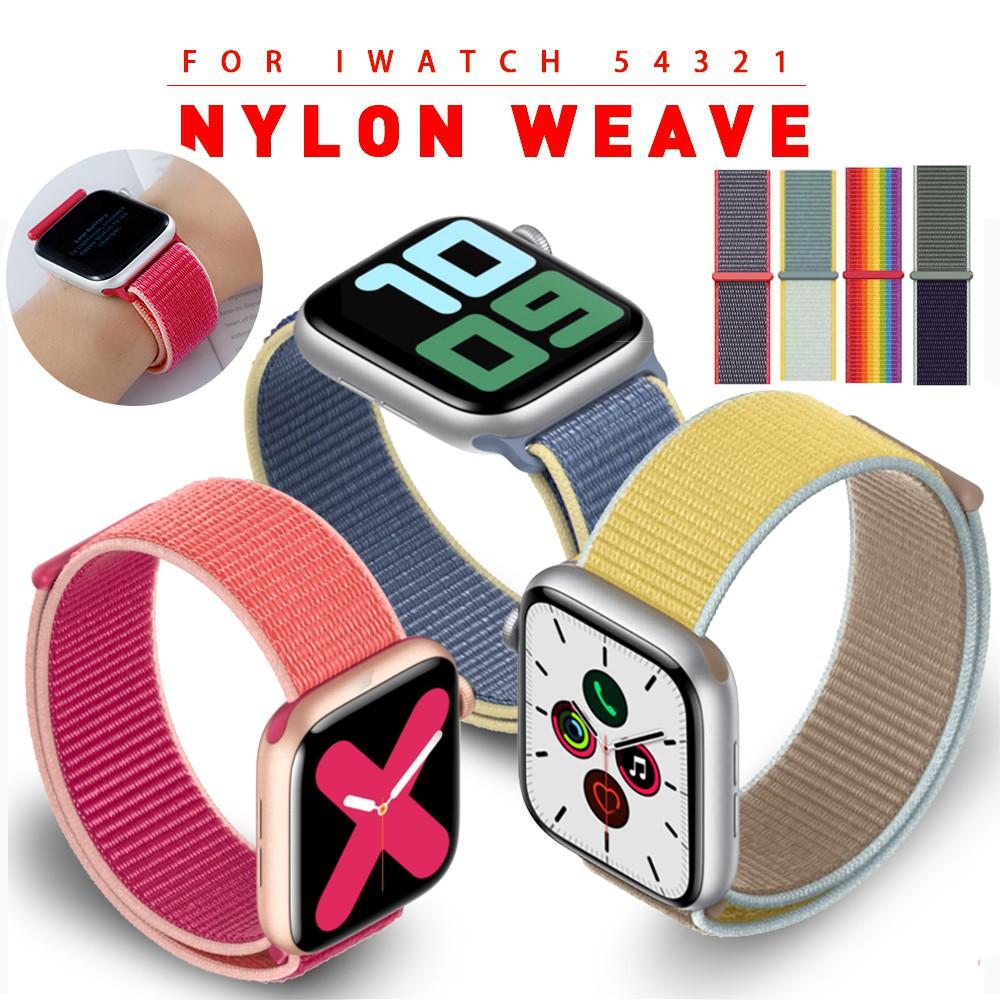 T5 ( Smart Watch ) สายนาฬิกาข้อมือไนล่อนสําหรับ T 500 T 5 F 10 F 8 T 55x7 M 33 F 18 F 20 Apple Watch Velcro