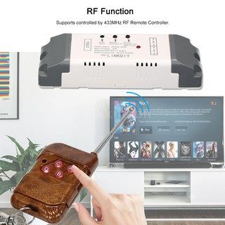 eWeLink 433Mhz Smart Wifi Switch Universal Wireless Remote Control Switch  Module 2CH AC85-250V Timer Phone APP Remote Co