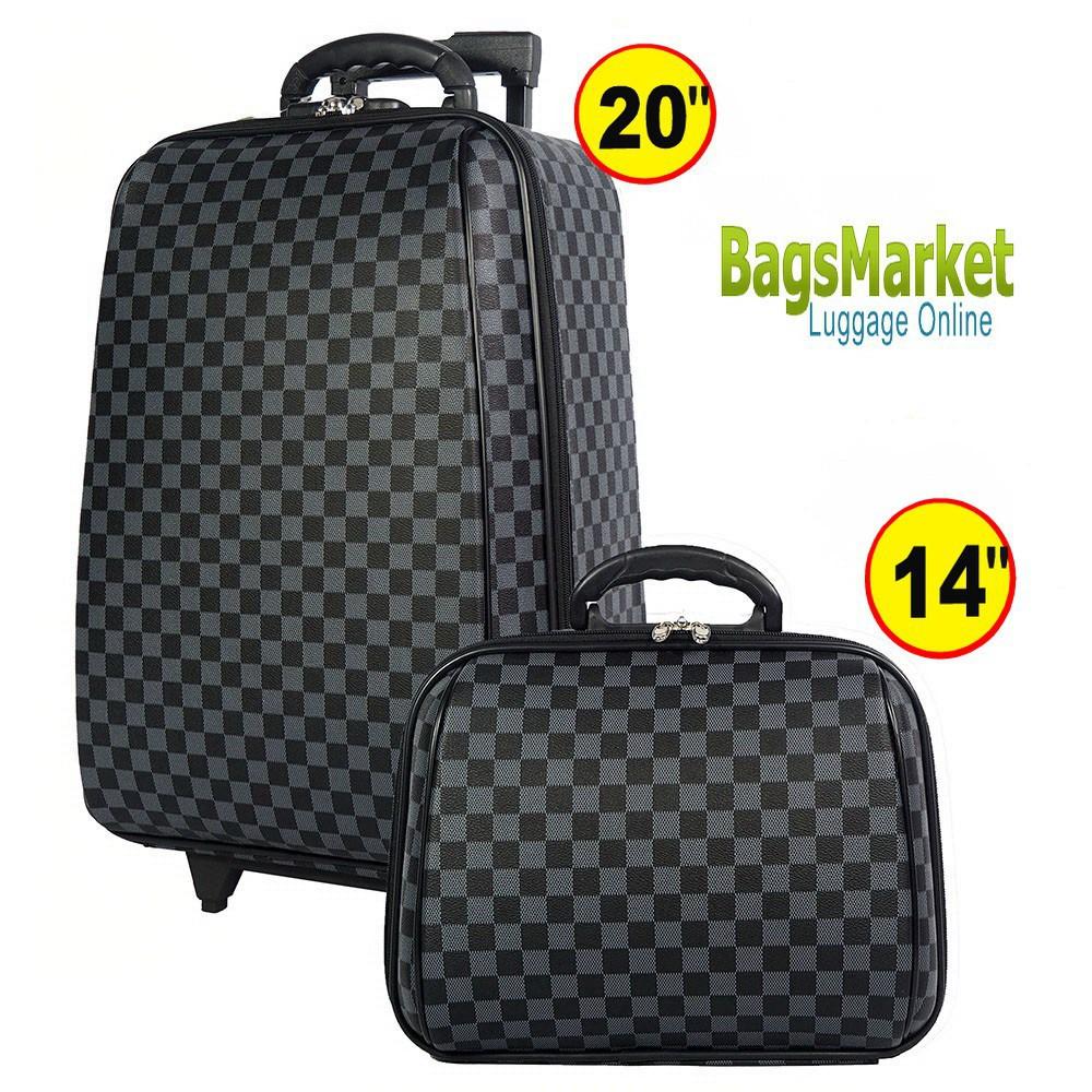กระเป๋าเดินทาง 20 นิ้ว กระเป๋าเดินทาง 9889shop Luggage Wheal กระเป๋าเดินทางล้อลาก ระบบรหัสล๊อค เซ็ทคู่ ขนาด 20 นิ้ว/14 น