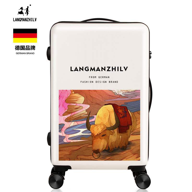 ☜♚✼ใหม่ กราฟฟิตี้ น่ารัก กระเป๋าเดินทางใบเล็ก กระเป๋าแฟชั่น ยี่ห้อ กระเป๋าเดินทาง ชาย นักเรียน กล่อง สุทธิ สีแดง กระเป๋า