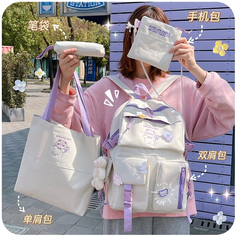 ▩Schoolbag girls Korean version of Japanese ins กระเป๋าเดินทางของโรงเรียนกระเป๋าเป้สะพายหลังความจุขนาดใหญ่สำหรับเด็กจัด