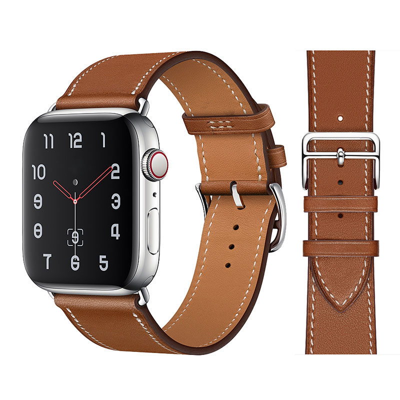 High quality Leather loop Band for iWatch 40mm 44mm Sports Strap Tour band for Apple watch 42mm 38mm Series 2 3 4 5 6 SE