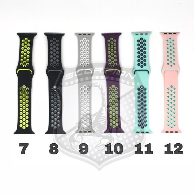 นาฬิกาดิจิตอล。 🔥พิเศษ🇹🇭 สาย Apple Watch  Sport Band for Apple Watch Series 1,2,3,4,5,6