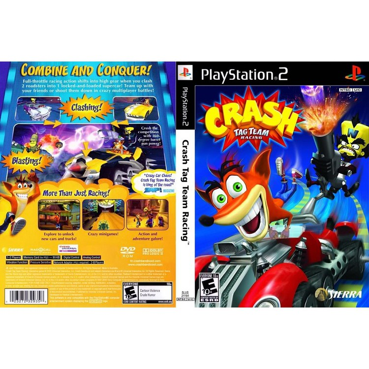 CRASH TAG TEAM RACING [PS2 US : DVD5 1 Disc]